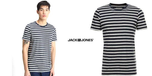 Camiseta de rayas Jack & Jones Jjestripe tee SS Crew Neck STS para hombre chollo en Amazon