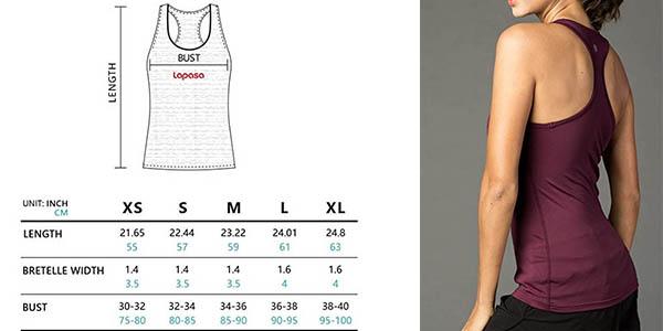 camiseta tirantes cruzados Lapasa con genial relación calidad-precio