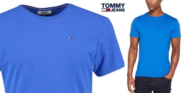 Camiseta Tommy Jeans de punto de algodón para hombre chollo en Amazon