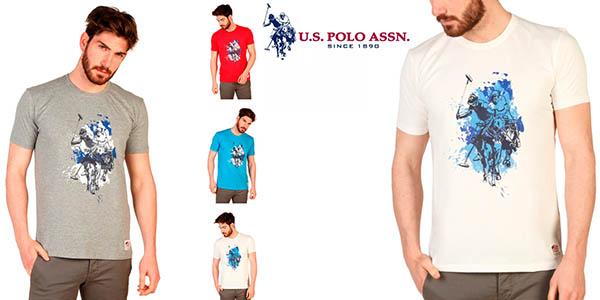 camiseta US Polo manga corta hombre barata