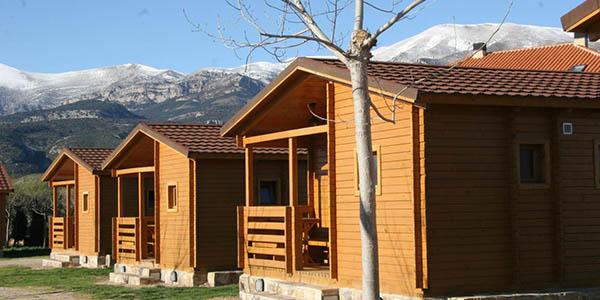 Camping Cañones Guara y Formiga bungalow oferta