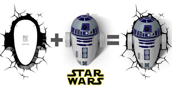 Lámpara LED 3D de R2-D3 de Star Wars barata