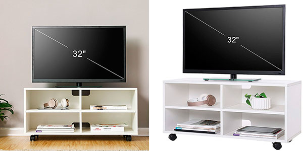 Chollo flash mueble songmics para tv con 4 compartimentos for Super chollo muebles