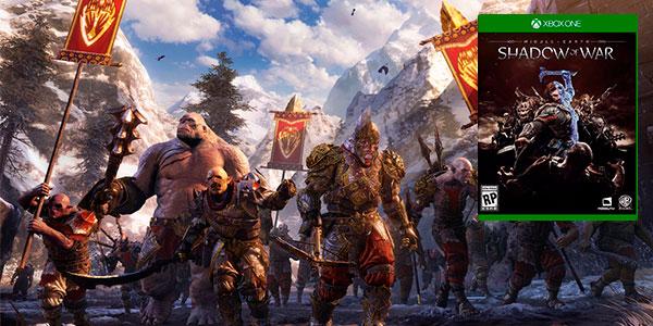 Chollo Pack Xbox One S de 1 TB + Sombras de guerra