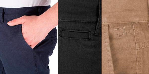 Chollo Pantalones chinos James Tyler de algodón para hombre