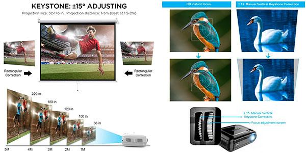 Chollo Proyector LED LESHP de 3.200 lúmenes con HDMI