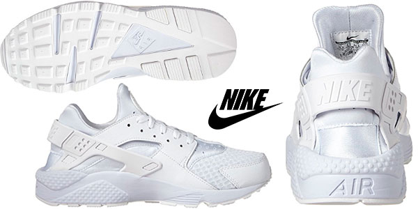 Chollo Zapatillas de running Nike Air Huarache blancas para hombre