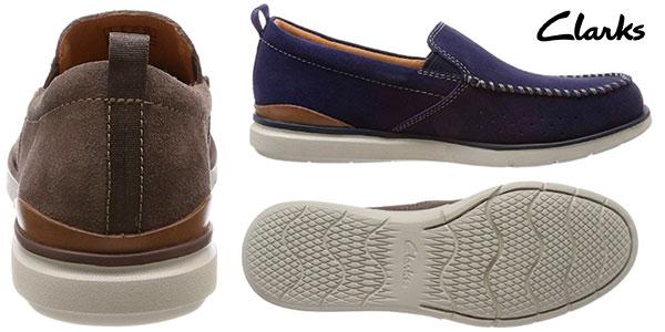 Chollo Zapatos mocasines de piel Clarks Edgewood Step para hombre