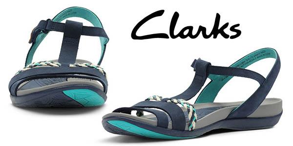 Clarks Tealite Grace sandalias de cuero baratas