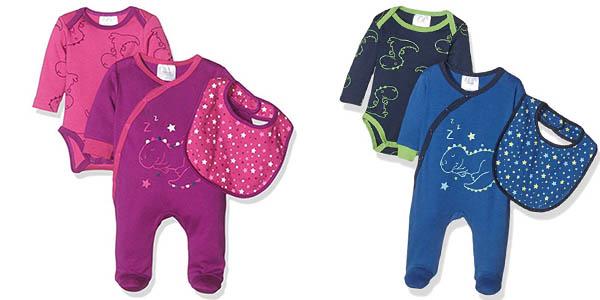 conjunto de body pijama y babero para bebé Twins Starter barato