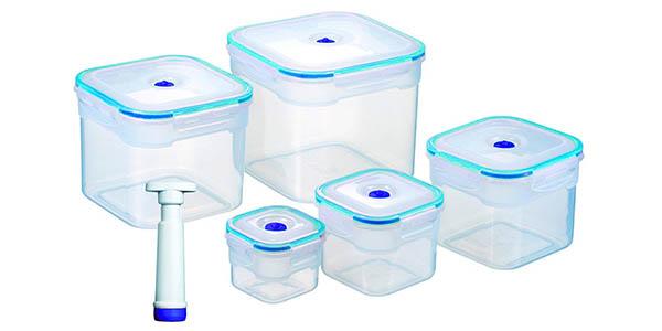 conjunto de recipientes de envasado al vacío chollo