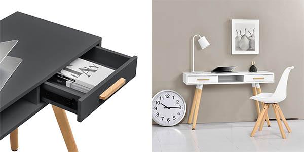 escritorio mesa para ordenador En.casa de diseño retro barata