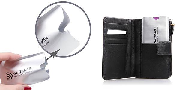 fundas anti robo protección RFID para tarjetas de crédito oferta