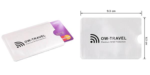 fundas para tarjetas de crédito con protección RFID anti robo chollo