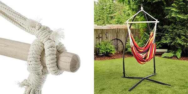 Chollazo silla colgante ultranatura bali con travesa o por for Hamacas para el jardin