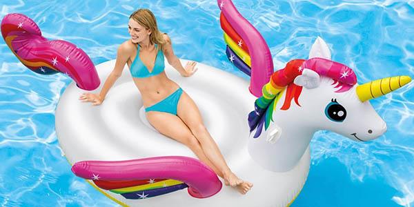 hinchable para piscina o playa con forma de unicornio gran tamaño oferta