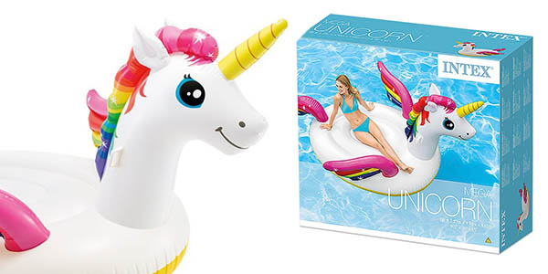 hinchable unicornio Intex tamaño XL chollo