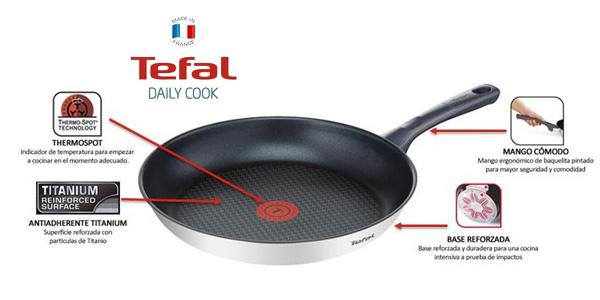 Set de 3 sartenes Tefal Daily Cook de acero inoxidable de 20, 24 y 26 cm chollo en Ebay