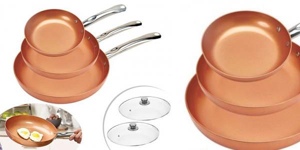 juego de sartenes Copper Pan baratas