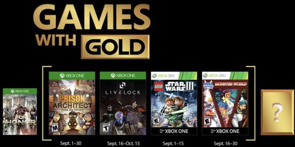 Juegos Gratis Con Gold En Septiembre 2018 Para Xbox One