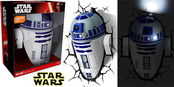 Chollo Lampara Led 3d Star Wars R2 D2 Por Solo 24 40 65