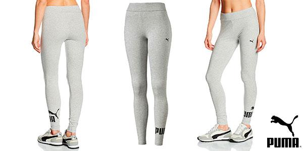 Leggins deportivos Puma ESS No.1 de color gris para mujer baratos