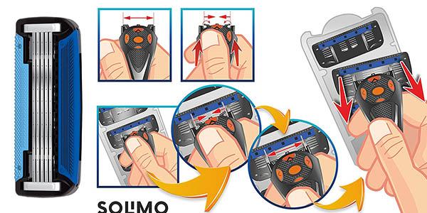 maquinilla de afeitar Solimo marca Amazon con genial relación calidad-precio