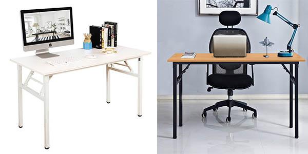 Chollazo mesa de oficina dlandhome plegable por s lo 89 for Mesa escritorio barata