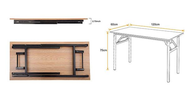 mesa de oficina escritorio DlanHome robusta en oferta