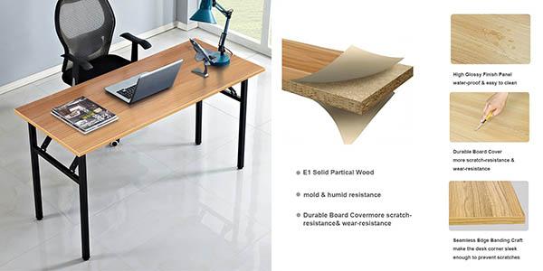 mesa plegable de escritorio DlandHome con gran relación calidad-precio