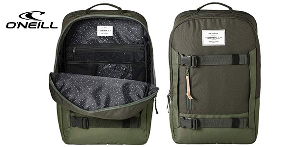 Mochila O'Neill Bm Boarder Plus Backpack en color verde bonze de 20L barata en Amazon
