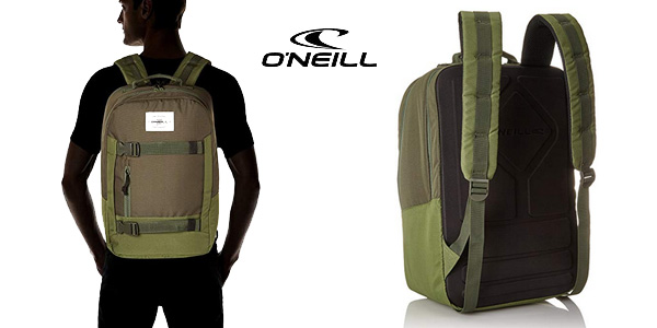 Mochila O'Neill Bm Boarder Plus Backpack en color verde bonze de 20L chollo en Amazon