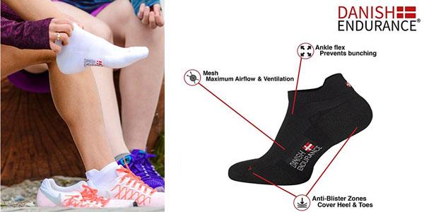 Calcetines de deporte Low Cut Pro Danish Endurance pack de 3 pares chollazo en Amazon