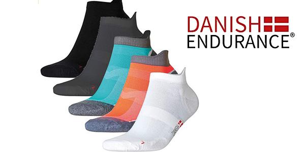 Calcetines de deporte Low Cut Pro Danish Endurance pack de 3 pares baratos en Amazon