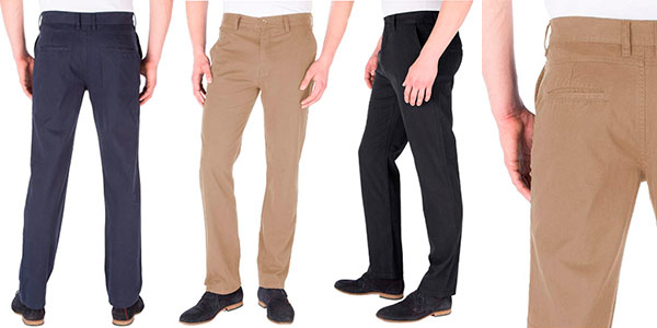 Pantalones chinos James Tyler de algodón para hombre baratos