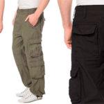 Pantalones Lower East largos cargo vintage de algodón para hombre baratos