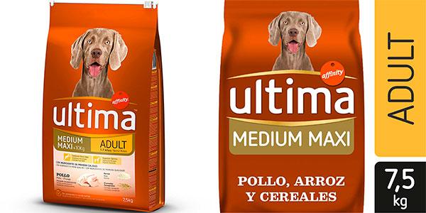 Pienso Ultima Medium/Maxi de pollo para perros adultos barato