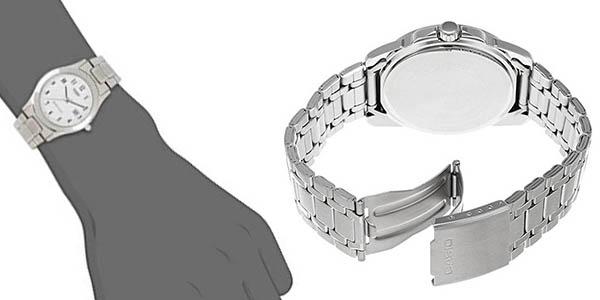 reloj de pulsera Casio LTP plateado en oferta