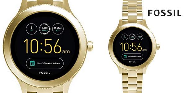 cb0cb803657e Smartwatch Fossil Q Venture Gen 3 en acero inoxidable dorado para mujer  barato en Amazon