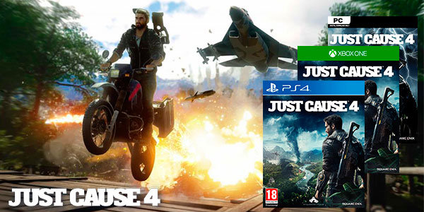 Reserva videojuego Just Cause 4 para PS4, Xbox One y PC Steam barato