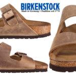 Sandalias de hebilla Birkenstock Arizona depiel marrón de horma estrecha para hombre baratas