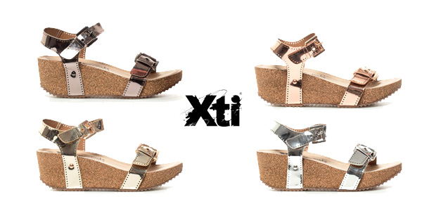 Sandalias metalizadas Xti Tinas para mujer baratas en eBay