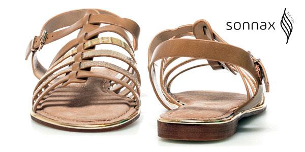 Sandalias Sonnax Vera efecto piel en color camel para mujer chollo en eBay