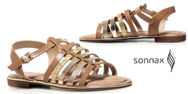 Sandalias Sonnax Vera efecto piel en color camel para mujer baratas en eBay