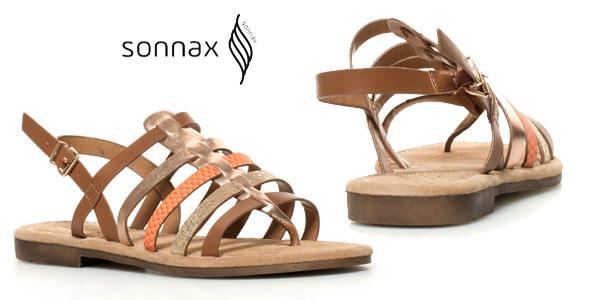 Sandalias planas Noa Sonnax con plantilla de piel y tiras multicolor para mujer baratas en eBay