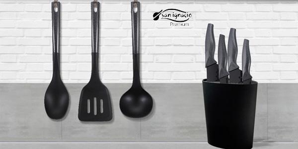 Set de tacoma con 4 cuchillos San Ignacio Premium y utensilios chollo en Amazon