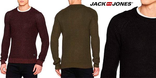 Suéter Jack & Jones Jorpannel Knit Crew Neck de manga larga para hombre barato