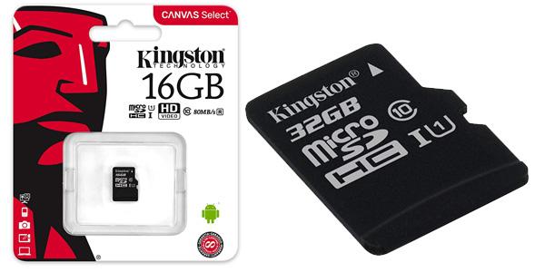 Tarjeta de memoria Kingston SD de 32GB Canvas Select barata en Amazon