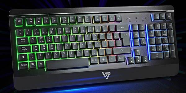 Teclado gaming Victsing con retroilumunación LED