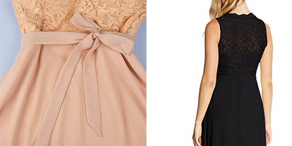 vestido para mujer Intimuse con falda vuelo y torso de encaje oferta
